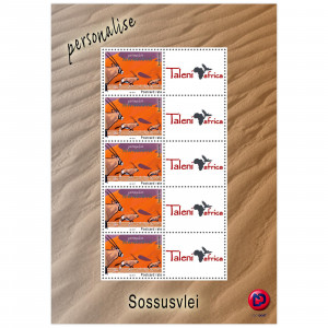 Personalized stamps Sossusvlei Reprint