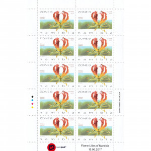 Flame Lilies of Namibia Full Sheet