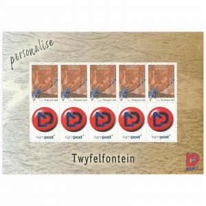 Personalized stamps Twyfelfontein sheet