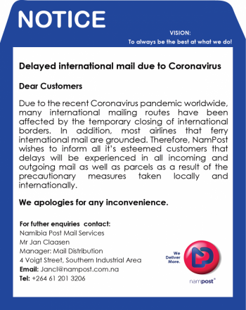 Delays in international mail