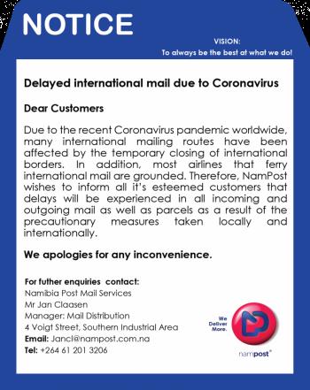 Delays in international mail