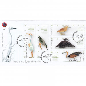 Herons of Namibia FDC