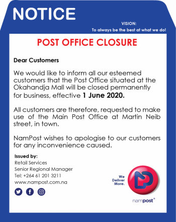 Closure of  the Post Office