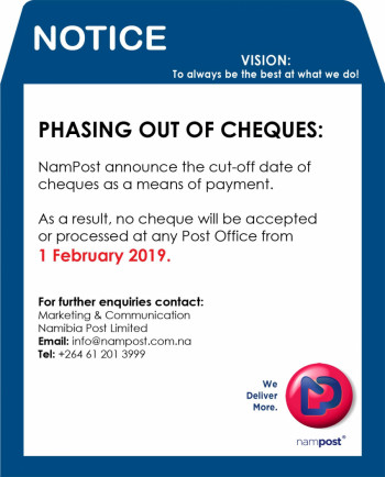 Phasing out of Cheques