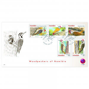 woodpeckers of namibia FDC