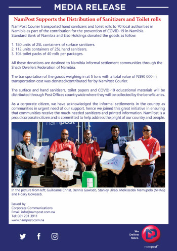 Media Release : Transportation of Sanitisers